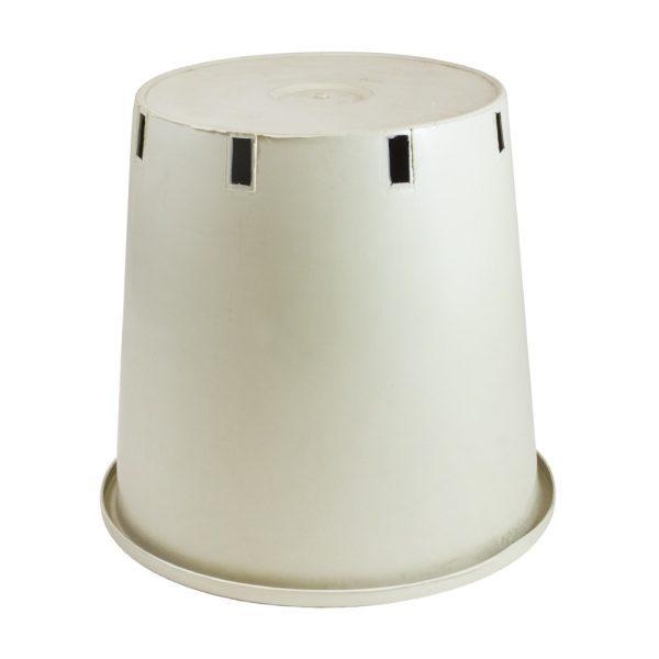 Maceta redonda 24 x 24 x 25 cm (10L) blanca