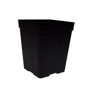 Maceta reforzada 23 x 23 x 27 cm (11L) negra