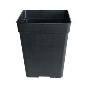 Maceta cuadrada 18 x 18 x 25,5 (5,5L) Negra