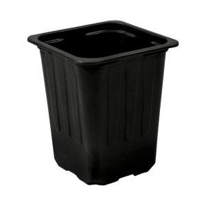 Maceta ECO 7 x 7 x 8 cm (600ml) negra
