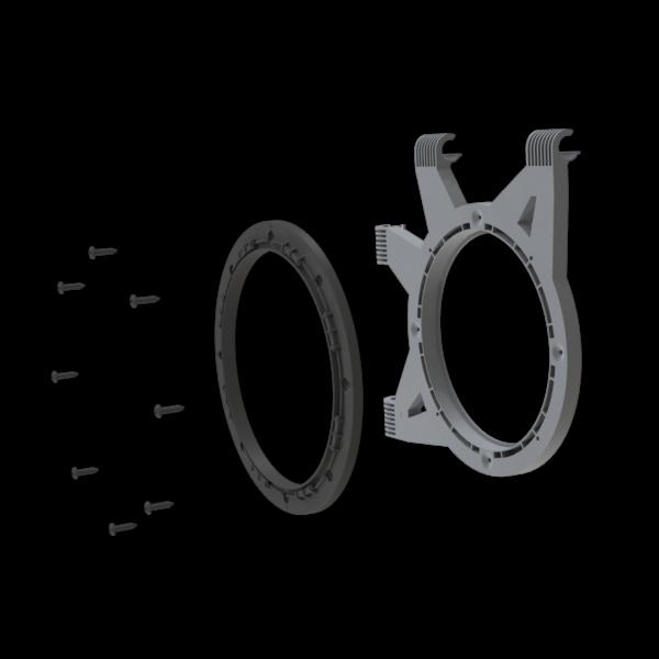 Ducting Flange Kit 25 mm Poles (inc.Cut) R4.00