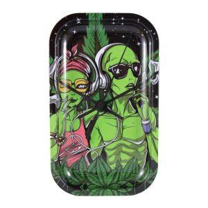 Bandeja Mediana Green Alien 27x16cm