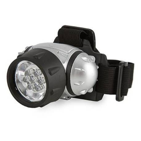 Linterna frontal verde LED